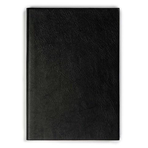 Notizbuch A5 Leder liniert 144 Blatt schwarz