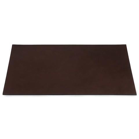 Schreibtischauflage Leder 60x40 cm dunkelbraun