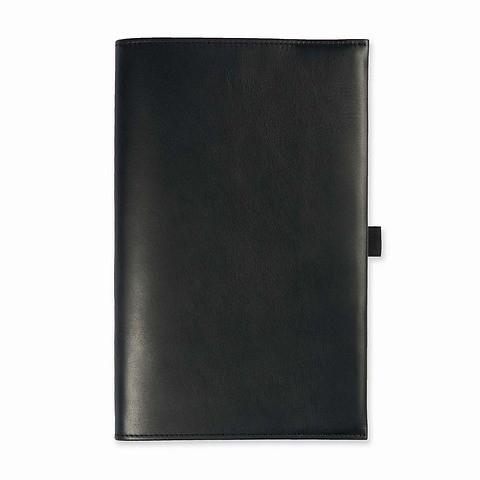 Undercover Leder für Moleskine A5 Notizbücher schwarz