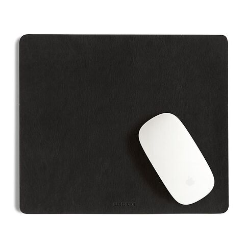 Legendär Mousepad SLYDE Leder 25,5x22 cm schwarz
