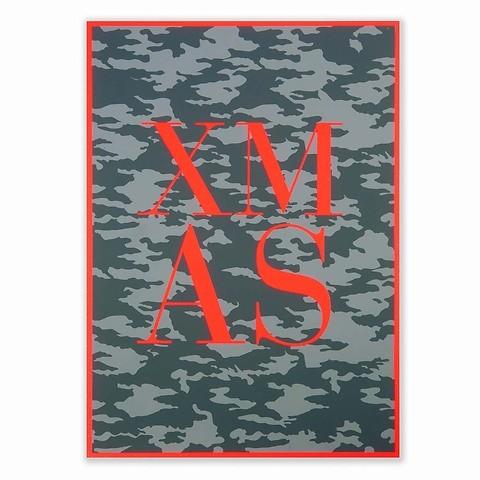 Weihnachtskarte X-Mas Camouflage A4