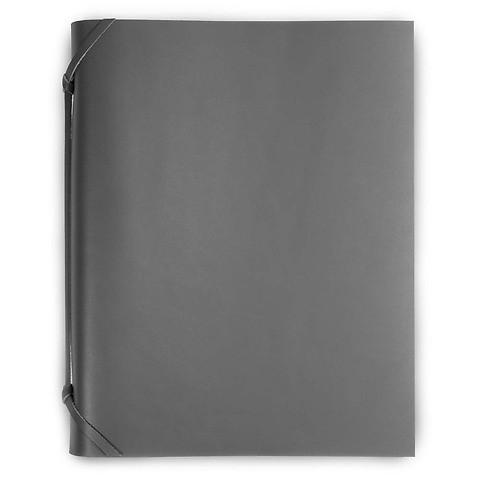 Fotoalbum Leder 30x23cm dunkel grau; 30 Blatt