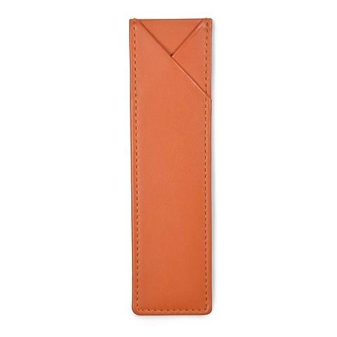 Treuleben Stifteetui 1er Leder , 4x15 cm; orange / mandarin