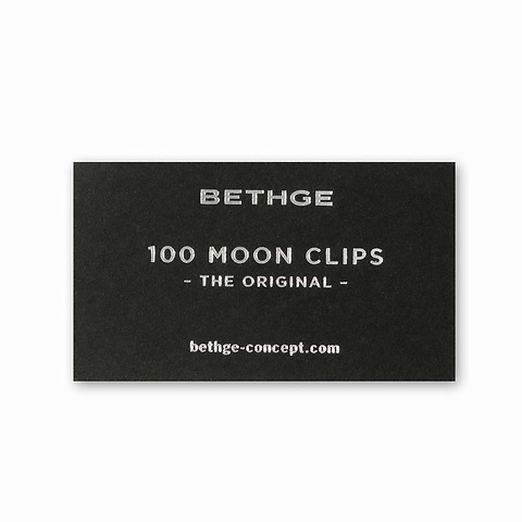 100 Moonclips rund chrom