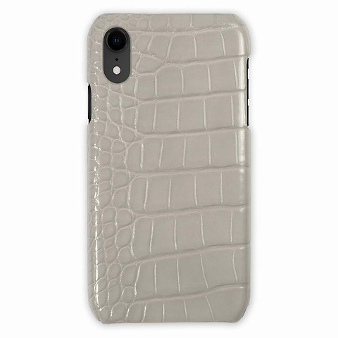 iPhone XR Case Croco taupe