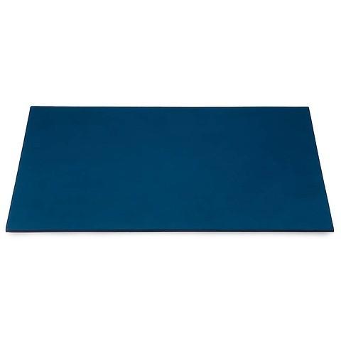 Schreibtischauflage Leder 60x40 cm blau