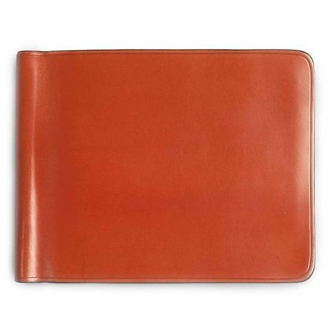 Kreditkartenetui Leder Geldclip 11x9 cm orange