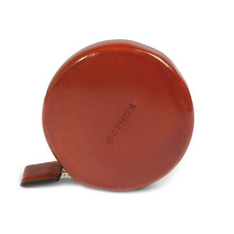Massband Leder orange, cm/inch,150 cm, d 5,3cm