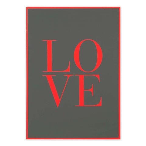 Grußkarte Love Camouflage Klappkarte A4