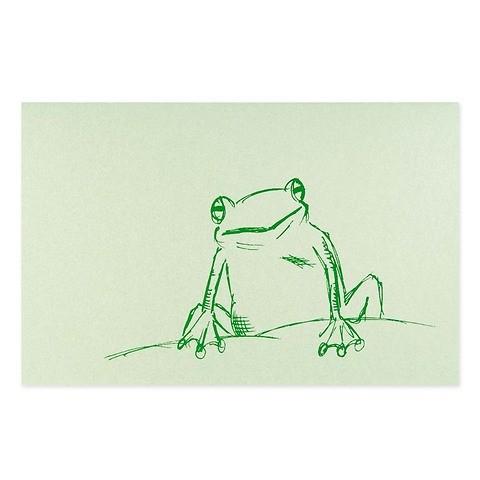 Grußkarte Frosch grün Perlmutt grün Diplomat