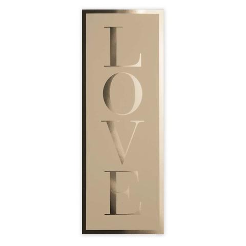 Grußkarte Love extra lang
