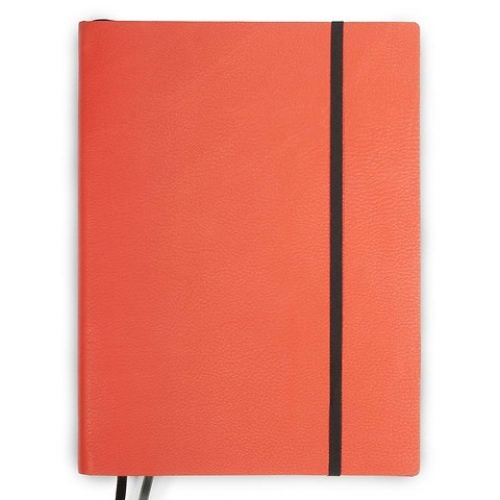 Whitebook Notes Leder Calf Gra in XL 23x31cm mandarin