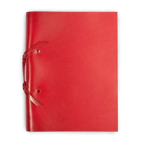 Skizzenbuch Quadernone Leder 15x20 cm 200 Blatt rot