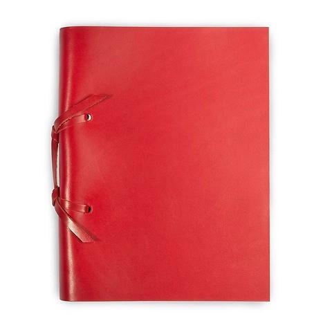 Skizzenbuch Quadernone Leder 15x20 cm rot