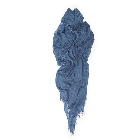 Begg & Co. Schal Filigree Cashmere 120x200 cm blau mid denim