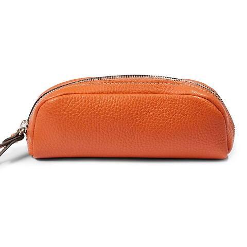 Stifte- und Brillenetui Leder Adri 19x8x4 cm, orange