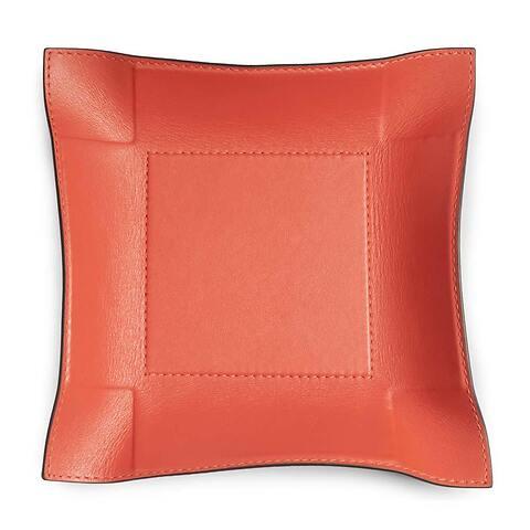 Accessoiretray Square Leder Nappa 20x20 cm orange