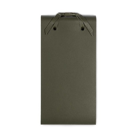 Blocco Skizzenblock Leder klein 8x16 cm 200 Blatt loden