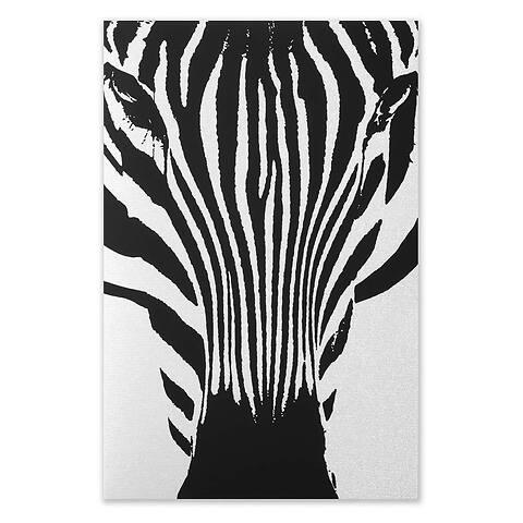 Grußkarte Zebra schwarz Diplomat