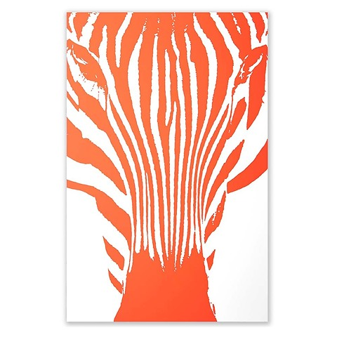 Grußkarte Zebra neonkoralle Diplomat