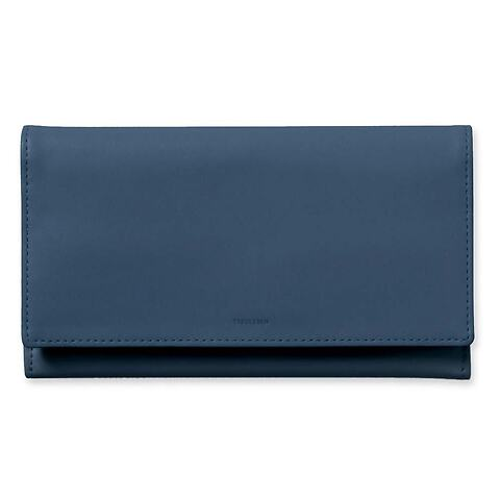 Treuleben Portemonnaie Leder Wallis 19x10 cm prussian blue