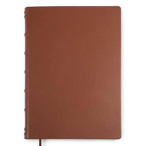 Gästebuch A4 Leder 144 Blatt blanco brandy