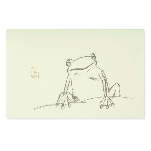 Grußkarte Frosch schwarz mit 'All the best' Diplomat