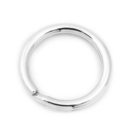 Schlüsselring Sterlingsilber rounded mit Durchmesser 3,3 cm