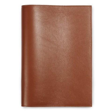 Buchhülle für DIN A4 Bücher Leder brandy