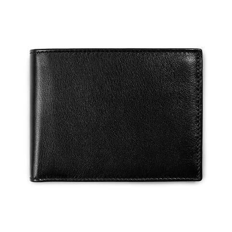 Purse quer Leder Nappa 12,5x9,5 für 7 Karten schwarz