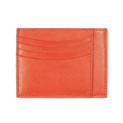 Kreditkarten-/Visitenkartenetui Leder Nappa orange