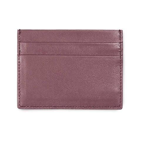 Visitenkarten-/Kreditkartenetui flach Leder Nappa brownrose