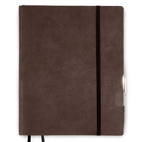 Whitebook Leder Calf Soft XL pro 23x29 cm antik braun