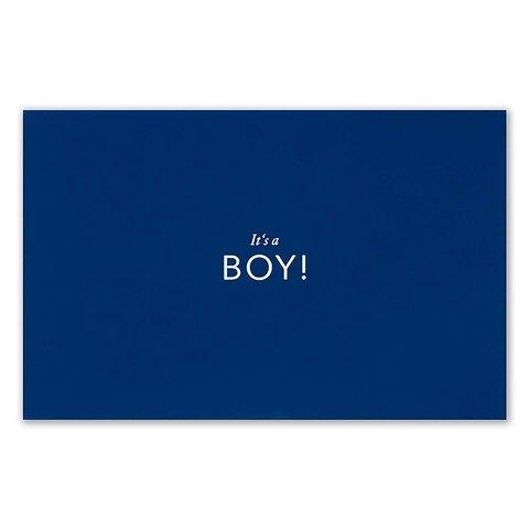 Grußkarte 'It´s a BOY!'  Pure blau Diplomat