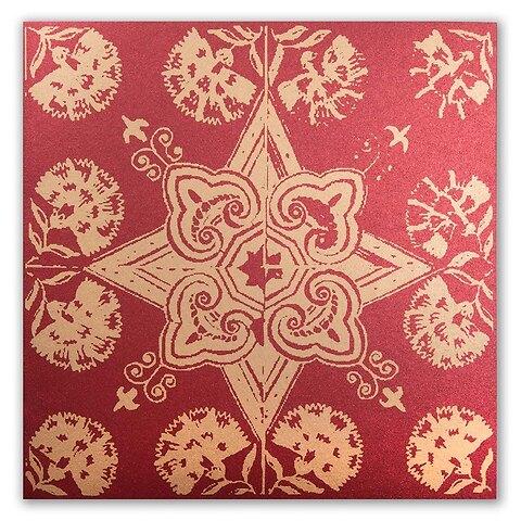 Weihnachtskarte Kachel Delfter Art quadratisch