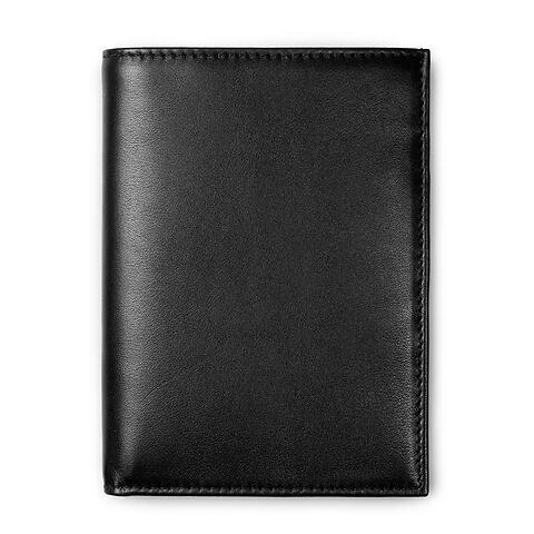 Brieftasche Leder Nappa hoch schwarz
