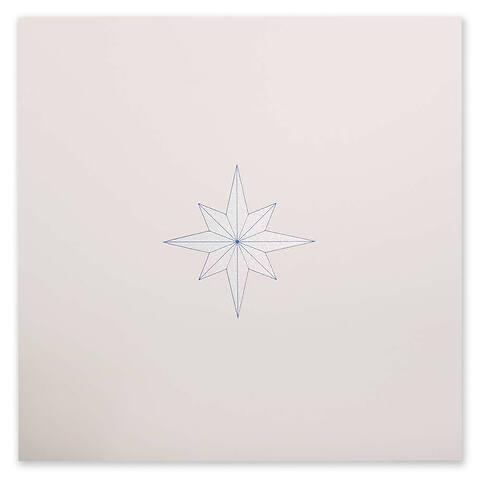Weihnachtskarte 'La Stella' Pure Sand quadratisch
