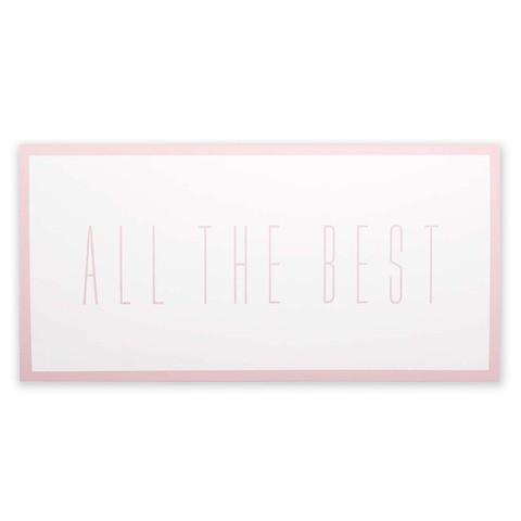 Grußkarte 'All the best' nude DIN lang