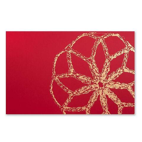 Weihnachtskarte 'christmas bauble' Pure rot Diplomat