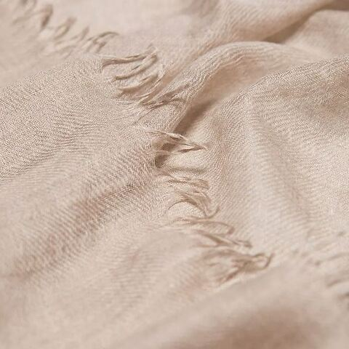 Begg & Co. Schal Scarf Staffa Cashmere/Silk 85x200 cm stone