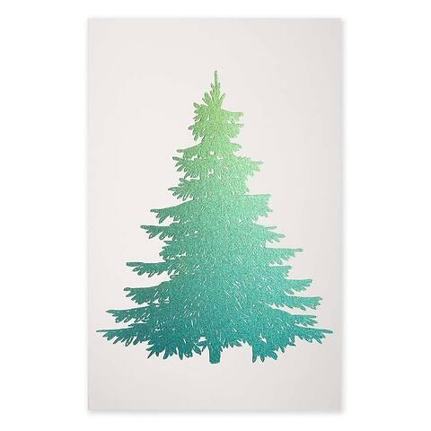 Weihnachtskarte Die Tanne Diplomat Pure sand