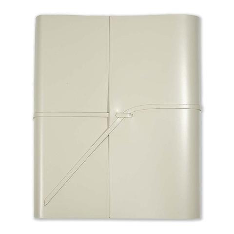 Fotoalbum Leder mit Band 23x30 cm cream, 50 Blatt