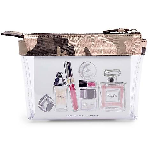 Liquid Travel Bag Ruby Calf Camo/PVC rosé