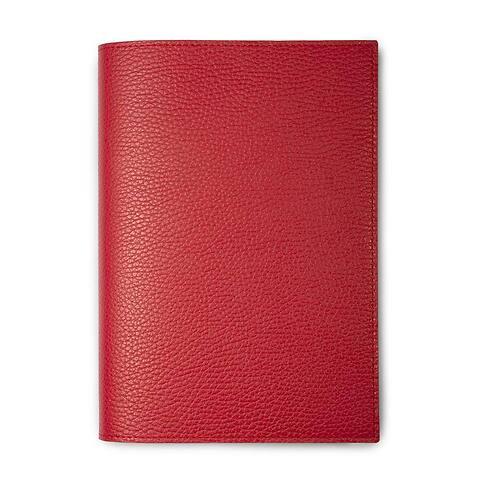 Buchhülle für DIN A5 Bücher Leder Lux rot