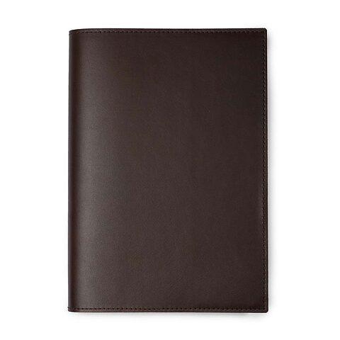 Buchhülle für DIN A5 Bücher in Leder Dolce dunkelbraun
