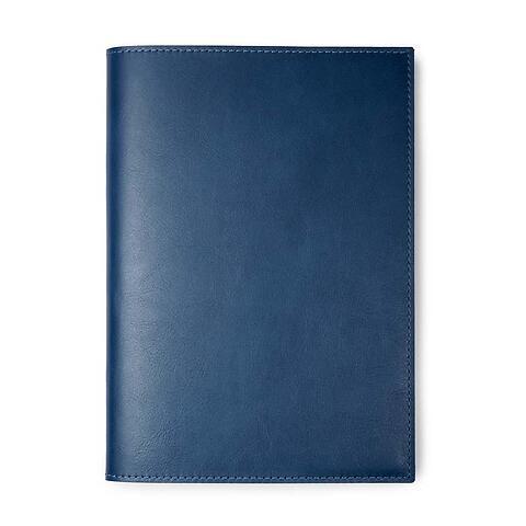 Buchhülle für DIN A5 Bücher Leder Dolce blau