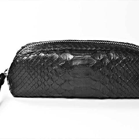 Pen/Glasses Case Python 19x8x4 cm schwarz