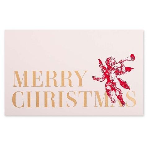 Weihnachtskarte 3 Engel merry christmas Mini nude