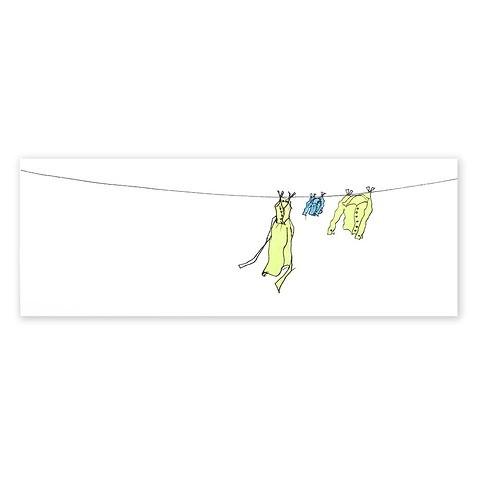 Grußkarte Wäscheleine Hemd Baby DIN lang