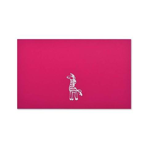Grußkarte Zebra Pure Pink Mini